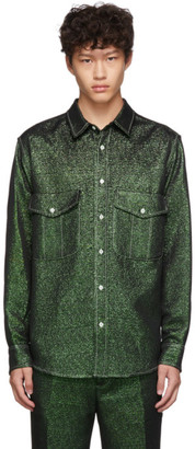 Sies Marjan Green Lurex Pocket Oskar Shirt