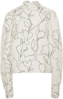 Carven Printed Dolman Sleeve Top