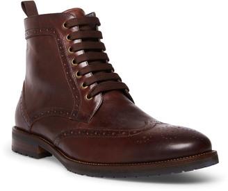 Steve Madden Tilman Leather Wingtip Boot