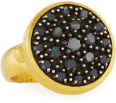 Gurhan Moonstruck 24K Pave Black Diamond Ring, Size 6.5