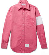 Thom Browne Button-Down Collar Chevron Cotton Oxford Shirt