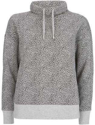 Mint Velvet Grey Leopard Print Sweatshirt