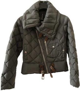 Ralph Lauren Grey Leather Jacket for Women