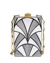 Edie Parker Carol Nouveau Acrylic Clutch Bag