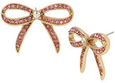 Betsey Johnson Marie Antoinette Pink Bow Button Earring
