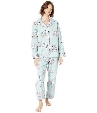 The Cat's Pajamas L'Amour Flannel Pajama Set