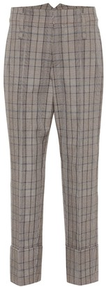 Brunello Cucinelli Checked wool and cotton pants