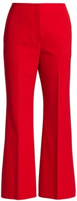 Proenza Schouler Technical Wool Suiting Cropped Flare Pants