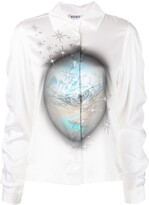 Thumbnail for your product : MAISIE WILEN Status Quo silk-blend blouse