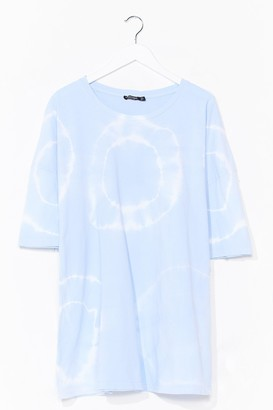 Nasty Gal Womens Twist and Shout Oversized Tie Dye Tee - Baby Blue