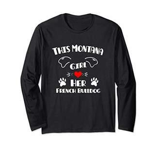 This Minnesota Girl Loves Her French Bulldog Long Sleeve T-Shirt