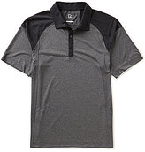Cutter & Buck Golf Chelan Color Block Heathered Short-Sleeve Polo Shirt