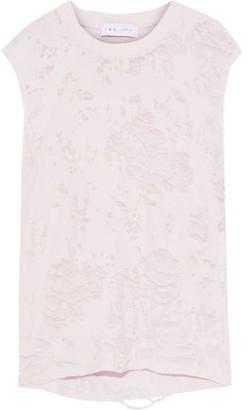 IRO Apie Distressed French Cotton-blend Terry Tank