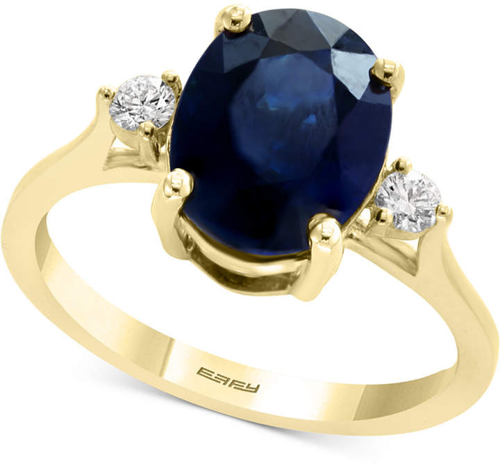 Effy Sapphire (2-7/8 ct. t.w.) & Diamond (1/8 ct. t.w.) Ring in 14k Gold