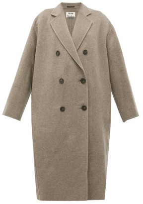 Acne Studios Odethe Double-breasted Wool Coat - Womens - Grey