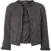 Dorothy Perkins Womens Monochrome Boucle Frill Jacket