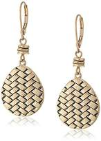 The Sak Basket Weave Gold Drop Earrings