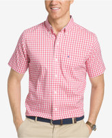 Izod Men's Performance UPF 15+ Advantage Check Cotton Shirt