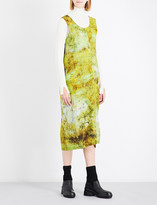 Y's Ys Grained-print wool dress