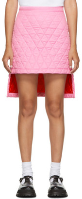 Burberry Pink Gail Quilted Miniskirt