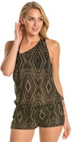 Vitamin A Dusk Diamond Crochet One Shoulder Cover Up Romper 8134732