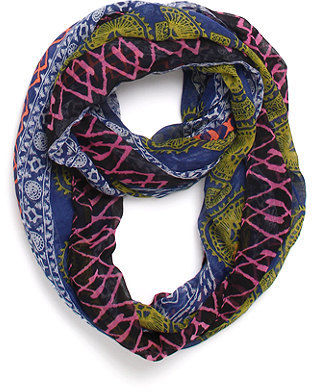 With Love From CA Paneled Tribal Infinity Scarf