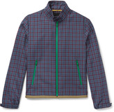 Prada Checked Wool-Jacquard Harrington Jacket