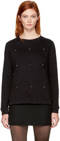 Valentino Black Scalloped Rockstud Sweatshirt