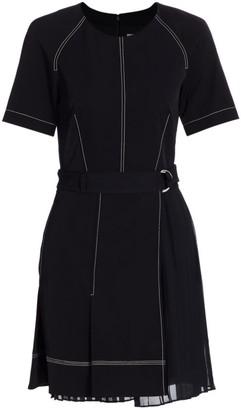 Jonathan Simkhai Arya Short-Sleeve Pleated Dress