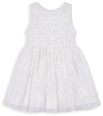 Pippa & Julie Baby's, Little Girl's & Girl's Floral Jacquard A-Line Dress