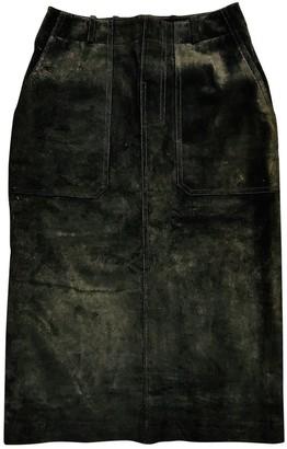 Bally Khaki Suede Skirts