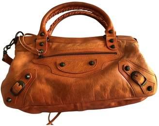 Balenciaga First Orange Leather Handbags