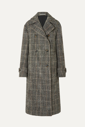 Stella McCartney Oversized Double-breasted Herringbone Wool-blend Coat - Black