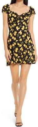 Reformation Pacey Lemon Print Minidress