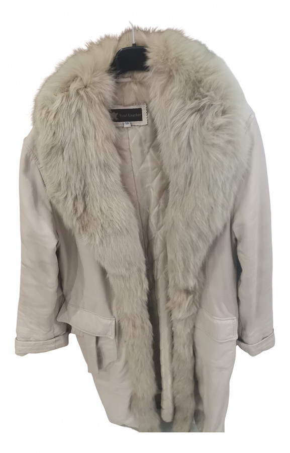 Thumbnail for your product : Linea Pelle Beige Leather Coats