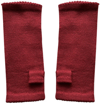 Non Signã© / Unsigned Red Wool Gloves