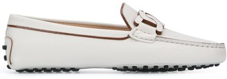 Tod's Chain-Link Leather Driving Loafers