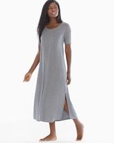 Soma Intimates Short Sleeve Long Sleepshirt Heather Graphite