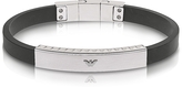 Emporio Armani Stainless Steel and Rubber Men's Bracelet