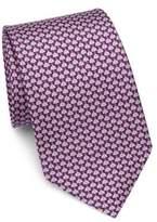 Salvatore Ferragamo Ladybug Print Silk Tie