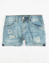 Vanilla Star PREMIUM Rip & Repair Girls Denim Shorts