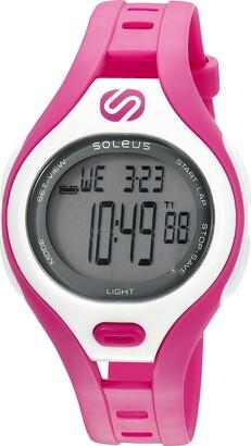 Soleus 'Dash' Quartz Plastic Running Watch Color:Pink (Model: SR019-630)