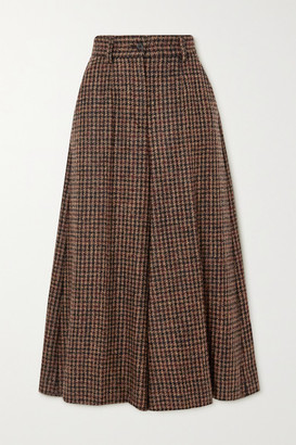 Dolce & Gabbana Houndstooth Tweed Culottes - Brown