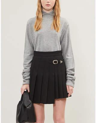 Maje Pleated gabardine skirt