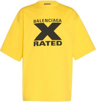Balenciaga Logo-Printed Jersey T-Shirt