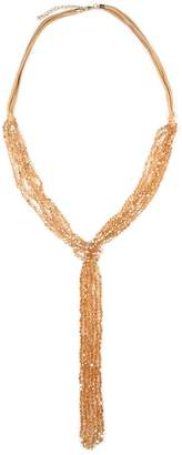 Riah Fashion Multistrand Rondelle-Beads-Necklace