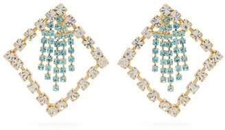 Rosantica Divinita Crystal-embellished Earrings - Womens - Green