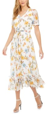 Calvin Klein Button-Front Midi Dress