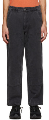Stussy Grey Canvas Washed Work Pants