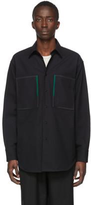Jil Sander Black Canvas Archer Shirt